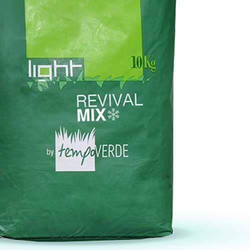 Light Revival Mixè una miscela di loietti per tappeti erbosi specifica pertrasemine tardo-autunnalicon basse temperature del terreno