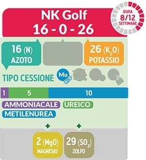 TurFeed Pro NK Golf è consigliato nei periodi di maggior freddo/caldo per mantenere un elevato grado di resistenza agli estremi termici ed agli stress idrici.