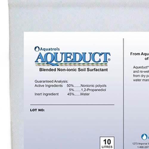 Aquatrols Aqueduct aumenta immediatamente la penetrazione dell'acqua