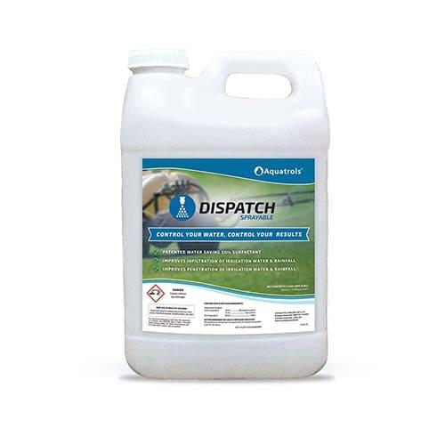 Aquatrols Dispatch Sprayableabbassa la tensione superficiale dell'acqua, favorendone la penetrazione.
