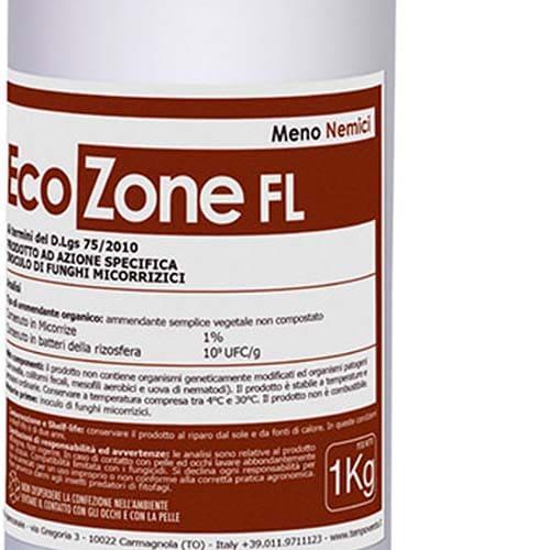 EcoZone FLè un prodotto in formulazione liquida che trova applicazionesugli apparati radicalidi piante stressate
