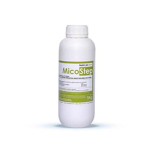 MicoStep è un prodotto ad azione specifica in grado d'influenzare le proprietà chimico-fisiche dei suoli.