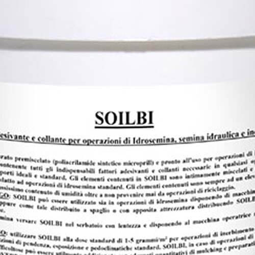 Soilbi ® è un collante, un lubrificante e un coadiuvante per la protezione contro l'erosione